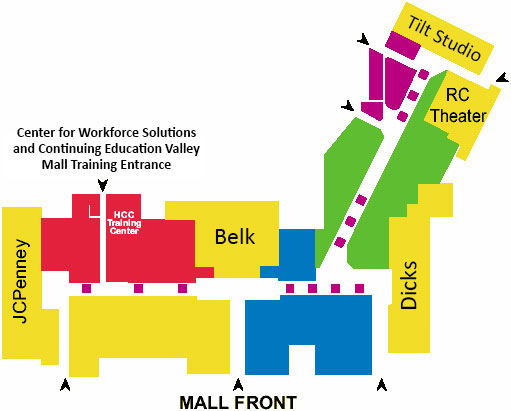 map of the Hagerstown Valley Mall